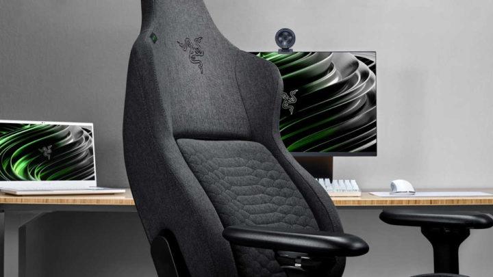 Razer cadeiras gaming tecido Iskur