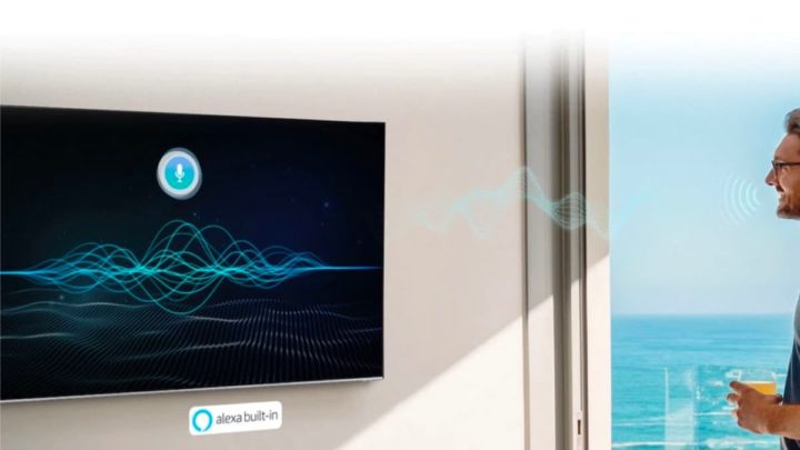 Ilustração SmartTv com Alexa da Amazon