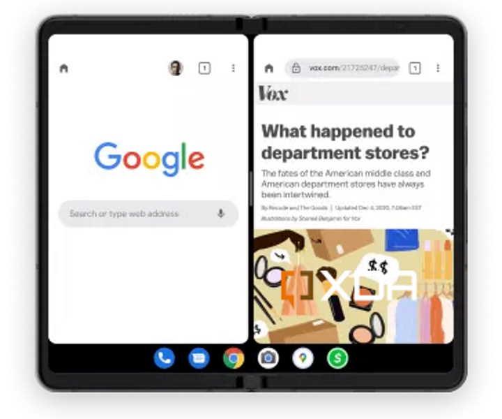 Android 12 Google dobráveis smartphones