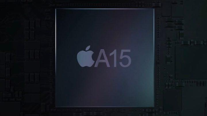 Imagem chip A15 do iPhone 13 da Apple