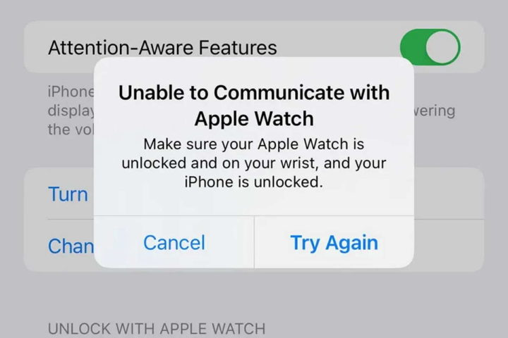 Problemas de desbloquear Apple Watch iPhone