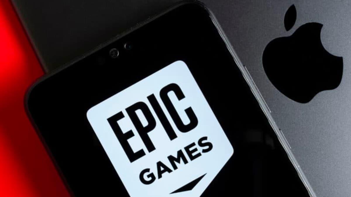 Ilustração Epic versus Apple em tribunal