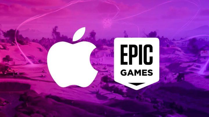Ilustração Apple versus Epic