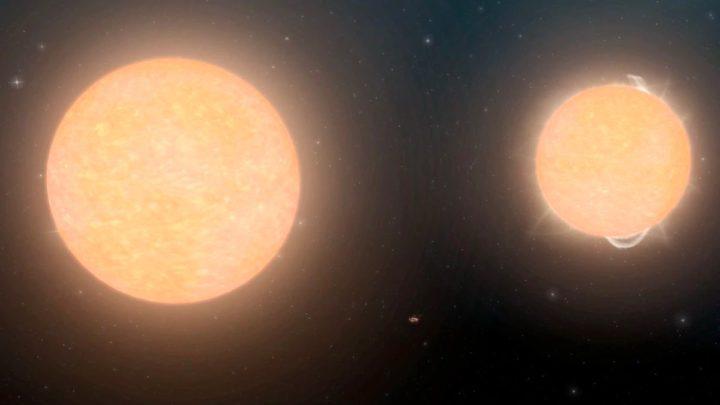 Imagem estrelas 16 Cygni A e 16 Cygni B parecidas ao nosso Sol