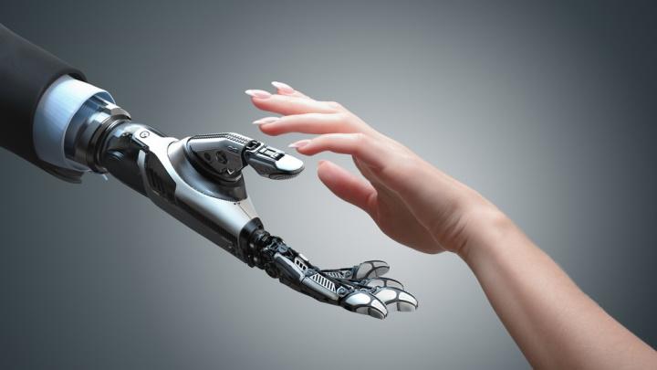 Imagem fusão de humanos com máquinas