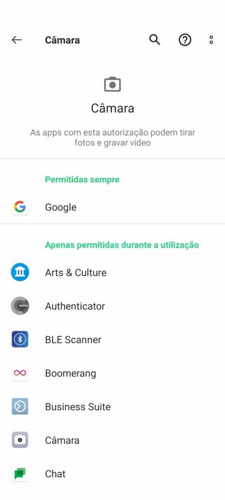 Permissões de aplicativos de segurança do Google para Android