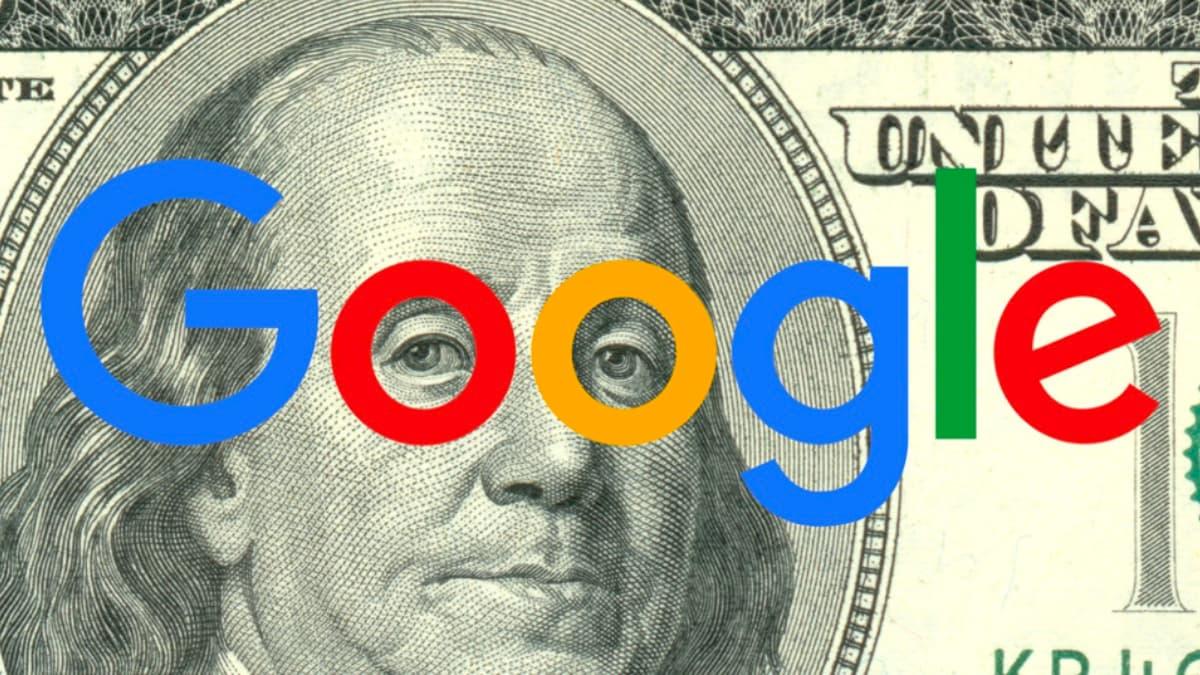 Ilustração Salários baixos de colaboradores Google