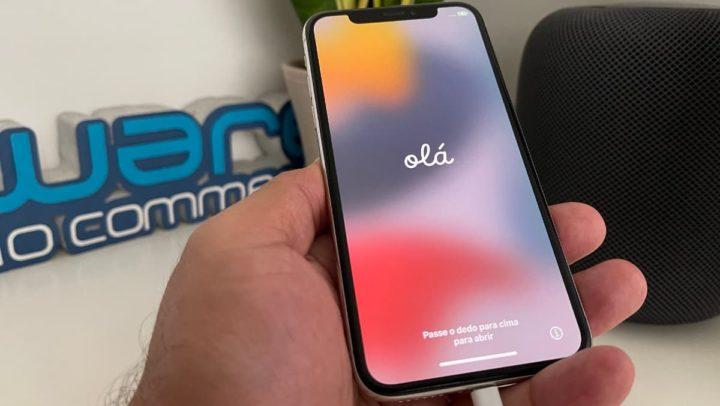 Imagem iPhone X com instalação limpa do iOS 15