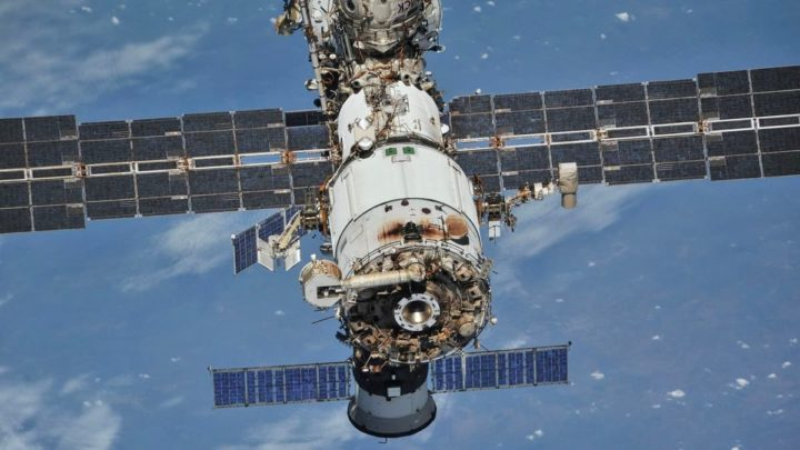 Imagem módulo russo da ISS