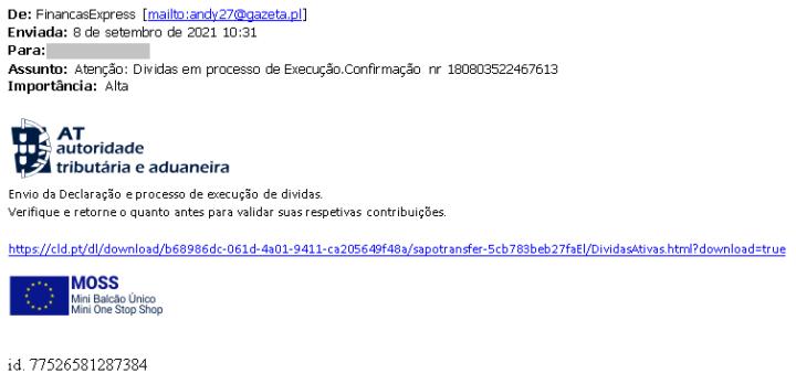 Atenção ao e-mail! Autoridade Tributária alerta para uma nova fraude