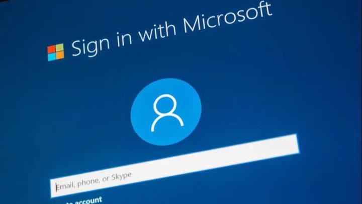 Microsoft passwords serviços autenticação conta