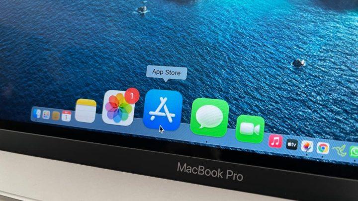 Ilustração Mac Ap Store num computador Mac