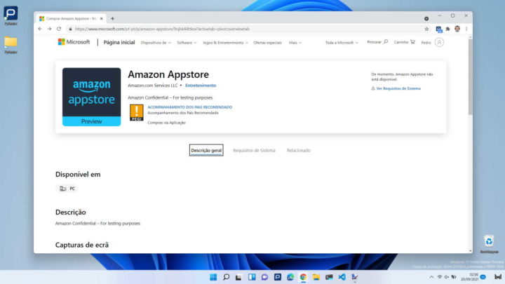 Windows 11 Amazon Android Microsoft Aplicaciones