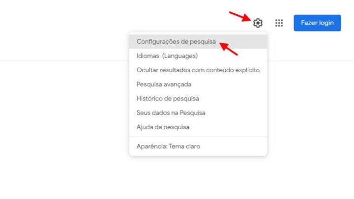 Dark Mode Google pesquisa ativar