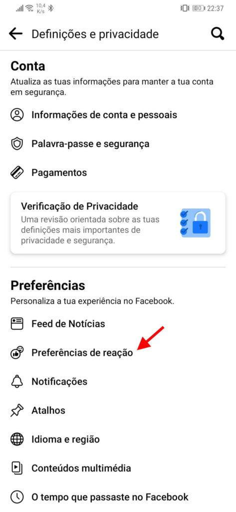 Facebook likes esconder publicações rede social