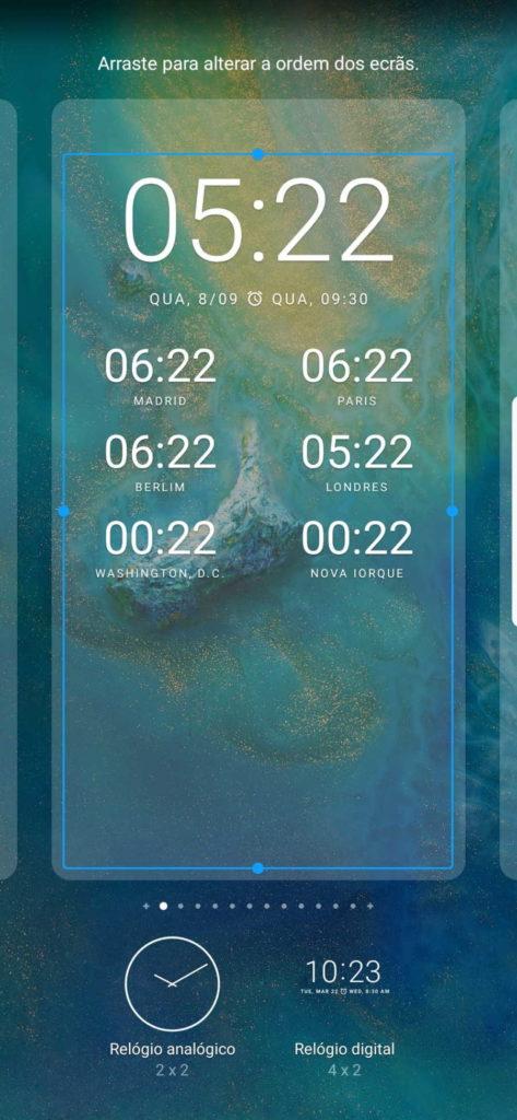 Cidades horas Android Google widget