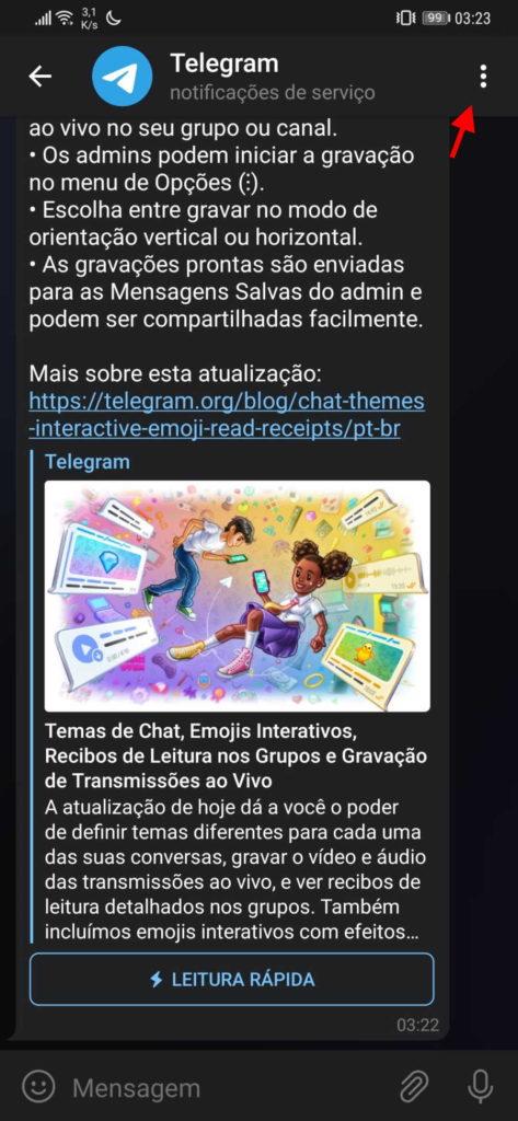Telegram ,tema ,cores ,conversa ,serviço