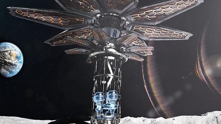 Projeto da Rolls-Royce para minerar a Lua e Marte