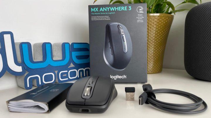 Imagem caixa do rato MX Logitch Anywhare 3