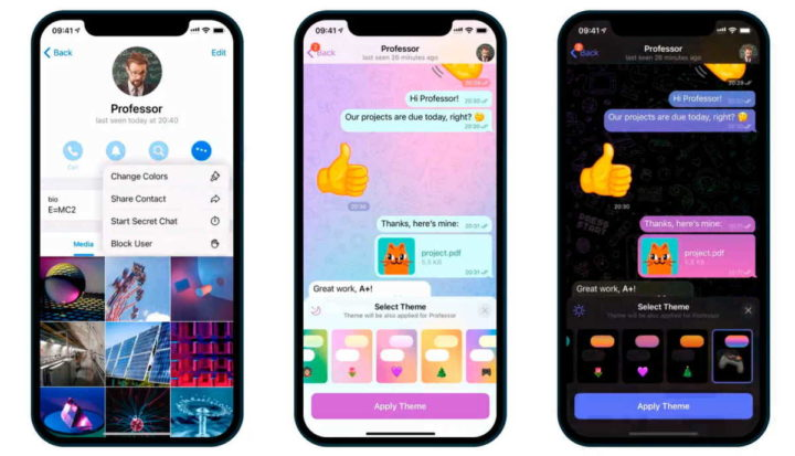 Telegram novidades atualização interface utilizadores
