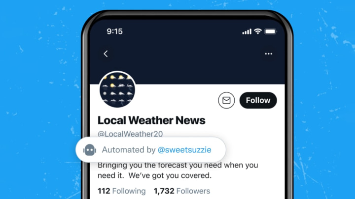 Imagem identificação de contas automatizadas do Twitter