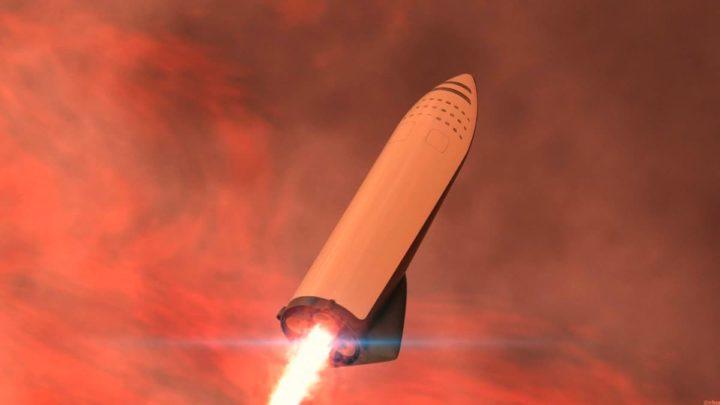 Ilustração da nave para a viagem a Marte