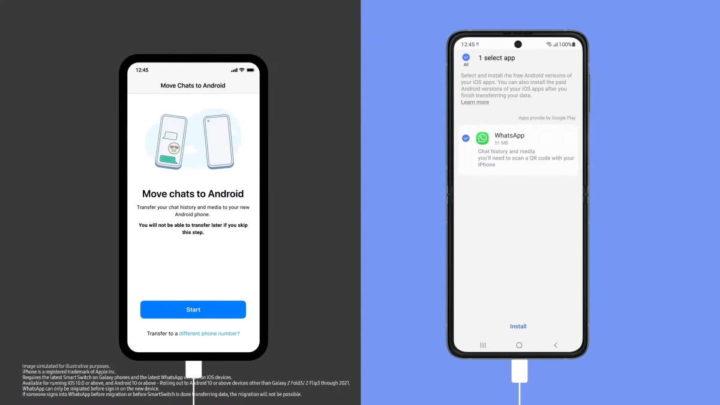 WhatsApp Android iPhone Samsung migrar