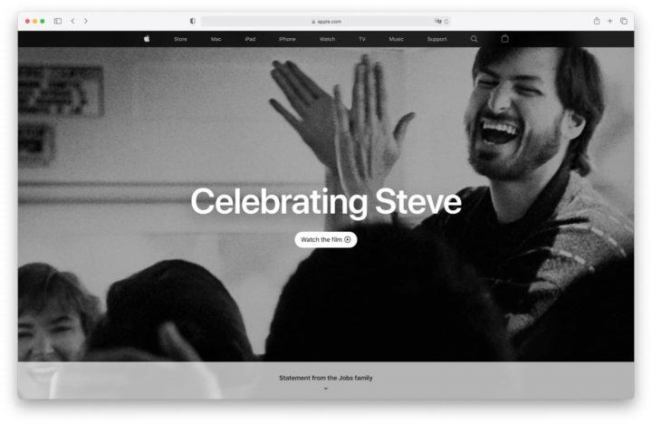 Apple comemora o décimo aniversário da morte de Steve Jobs com homenagem na página inicial