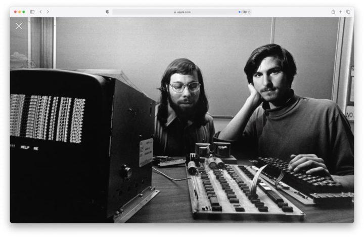 Imagem Steve Jobs e Steve Wozniak na então fundada Apple