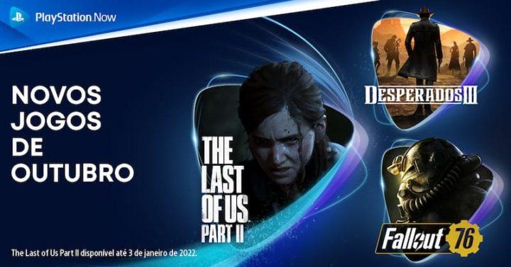 Jogos grátis no PS Now para outubro