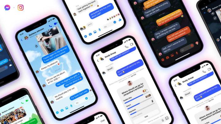 Facebook Messenger Instagram grupos mensagens
