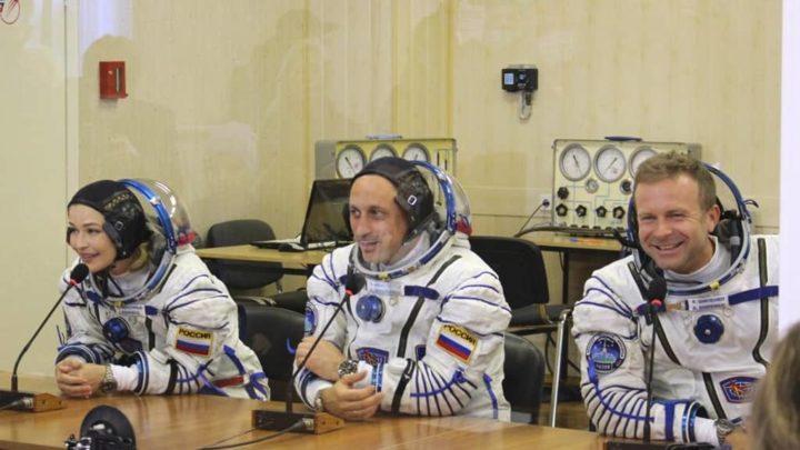 Yulia Peresild, Anton Shkaplerov e Klim Shipenko