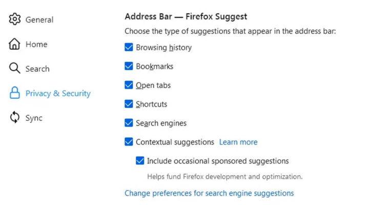 Firefox Mozilla publicidade barra endereço