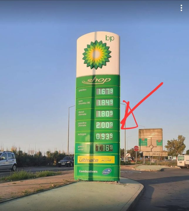 In Portugal there are already stations where the fuel exceeds €2 / L