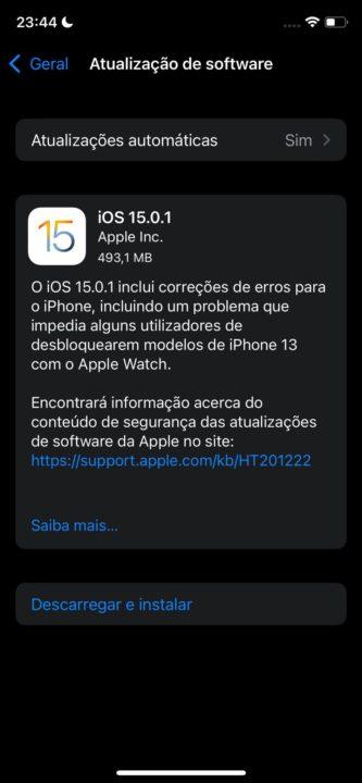 iOS 15.0.1 Apple Watch iPhone