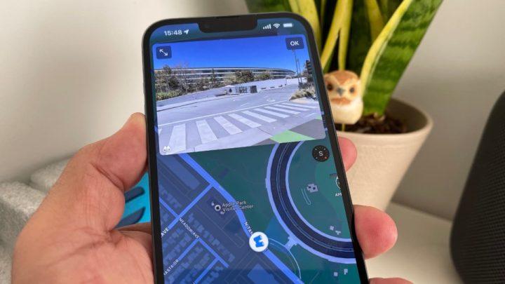Imagem Olhar em volta do Apple Maps no iOS 15.1 beta 3
