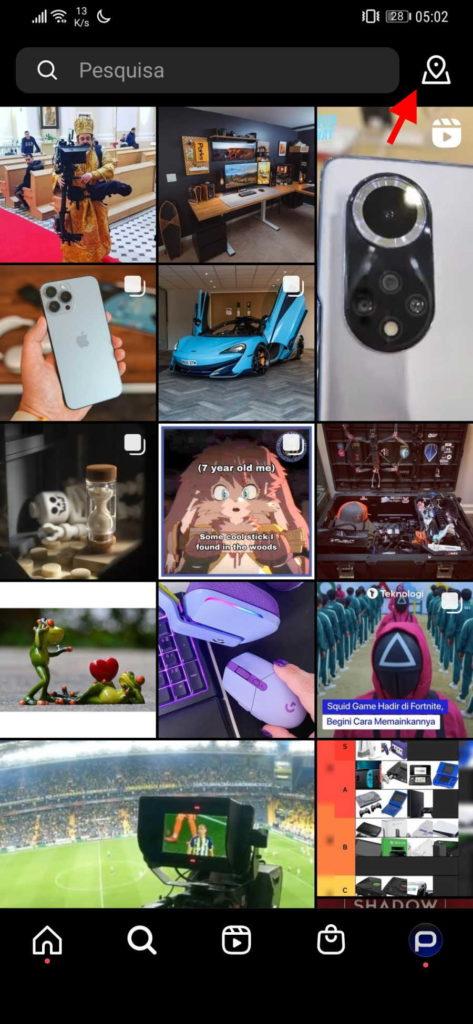 Instagram lugares fotografias imagens partilhar