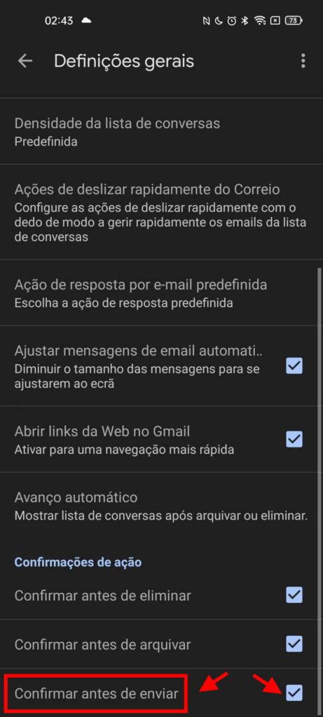 Gmail Android email enviar mensagem