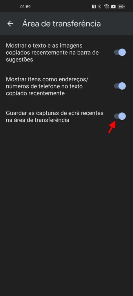 capturas ecrã teclado Android GBoard