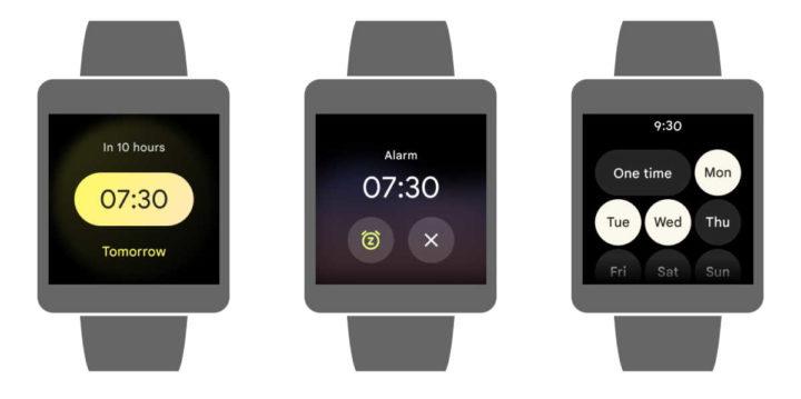 Google Wear OS smartwaches relógio Material You