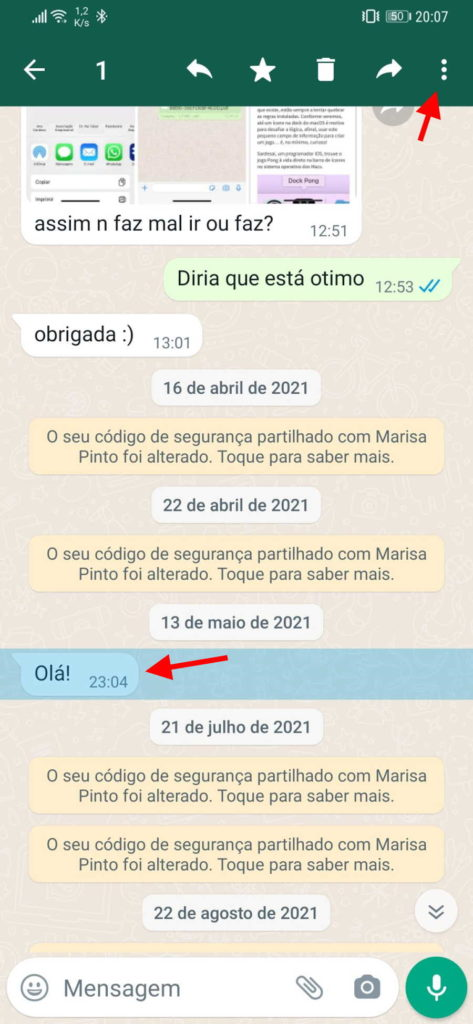 WhatsApp denunciar mensagens privacidade funcionalidade