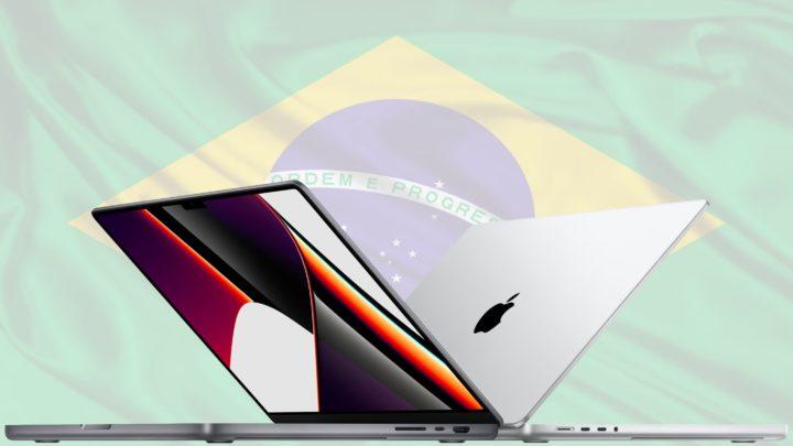 Ilustração MacBook Pro no Brasil
