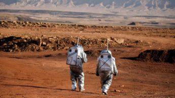 Simulação de Marte numa cratera, em Israel