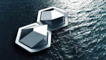 Cápsulas flutuantes desenvolvidas pela Sony para Tóquio, em 2050
