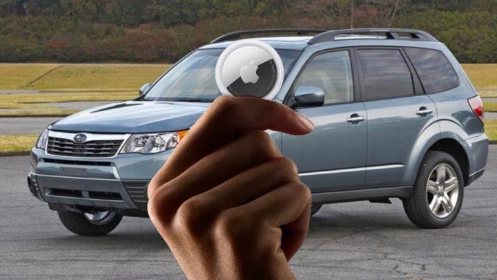 Imagem carro roubado e recuperado com auxílio de um AirTag da Apple