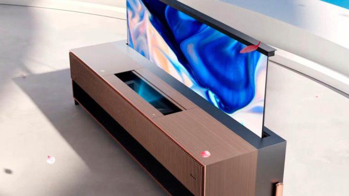 Hisense anuncia a primeira Laser TV com ecrã enrolável