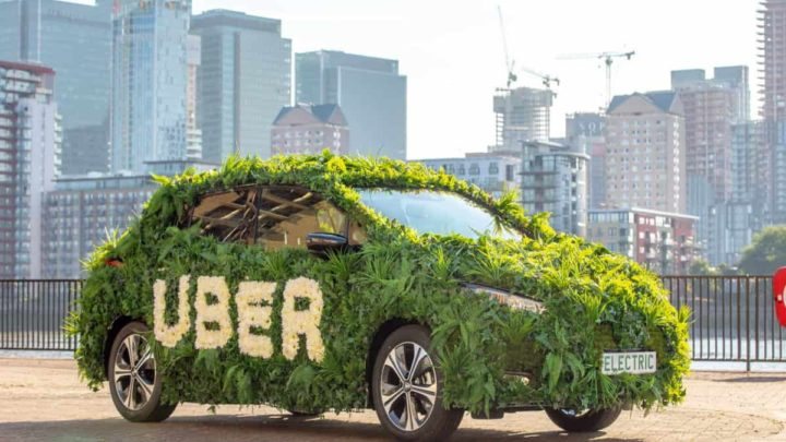 Carro elétrico da Uber