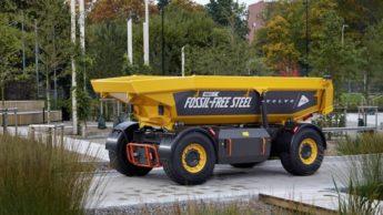Carro da Volvo em aço sem combustíveis fósseis, com tecnologia da SSAB