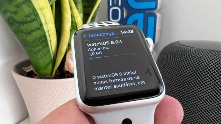 Imagem Apple Watch Series 3 com watchOS 8.0.1
