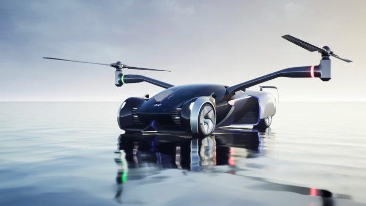 Imagem do design da XPeng do seu carro voador